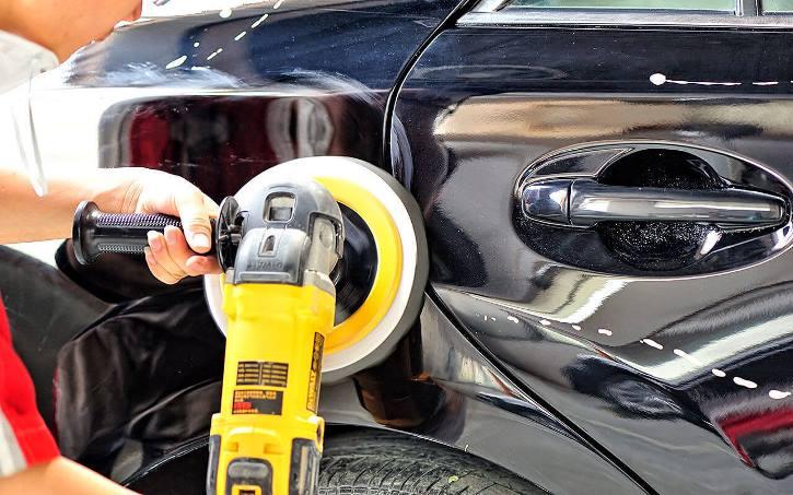 Полировка корпуса авто пастой
