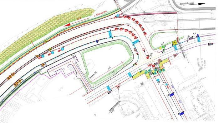 Развязка ЗСД на Новом шоссе - схема